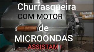 Como Fazer Churrasqueira No Bafo Com Motor Elétrico Caseira.
