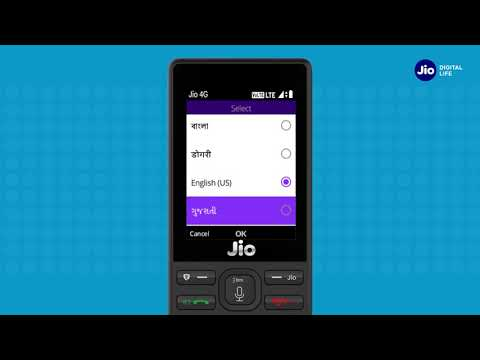 How to Change JioPhone Language & Input Method