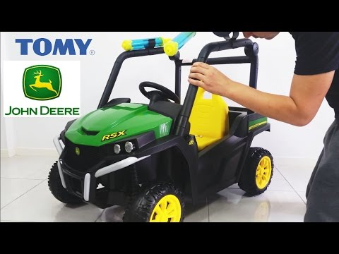 John Deere Gator Ride On Car Toy Unboxing Assemble by Tomy DIY 2017