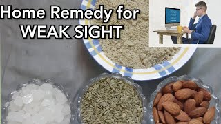 Home Remedy For Weak Eye Sight   Easy Remedy   Unknown Mood