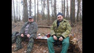 Поход в лес с ночевкой в марте, полевая кухня!!!