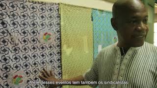 OKAN visita fábrica de tecidos africanos.