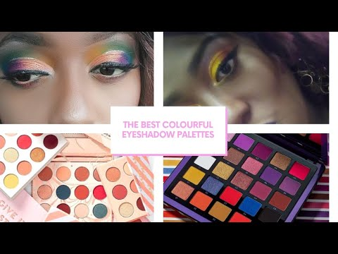 THE BEST COLOURFUL EYESHADOW PALETTES...They are worth it! | Trinidad Youtuber