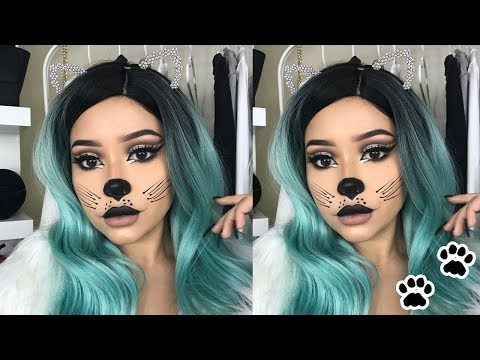 Halloween Cat Makeup Tutorial | Daisy Marquez