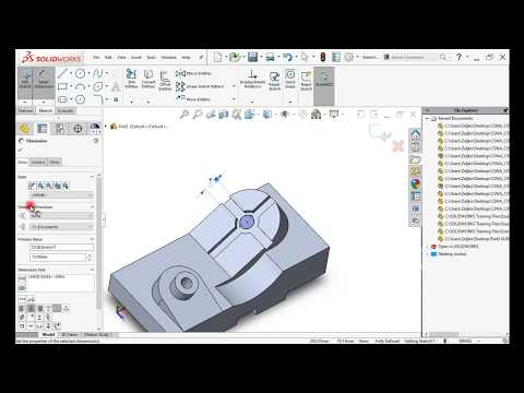 SolidWorks 2017 | CSWA Question 6 - YouTube