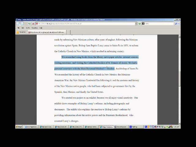 NHD How to create a process paper