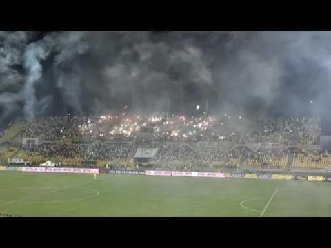 """""""Te llevamos en el corazon"""" Barra: Rebelión Auriverde Norte • Club: Real Cartagena"""