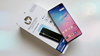 Samsung Galaxy S10+ Best Tempered Glass Screen Protector! Whitestone Dome
