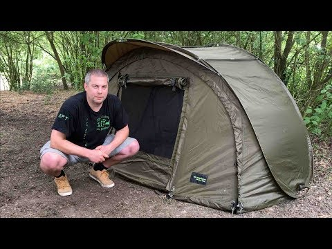 Angelzelt Test | Elbe Fishing Team | MK Fast Pop Up Shelter | Schnellaufbau