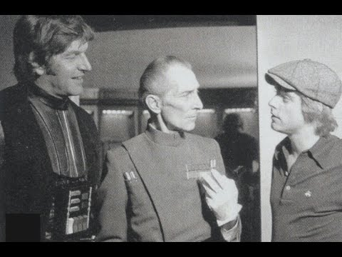 Peter Cushing on playing Grand Moff Tarkin on carpet slippers in STAR WARS - EPISODE IV: A NEW HOPE