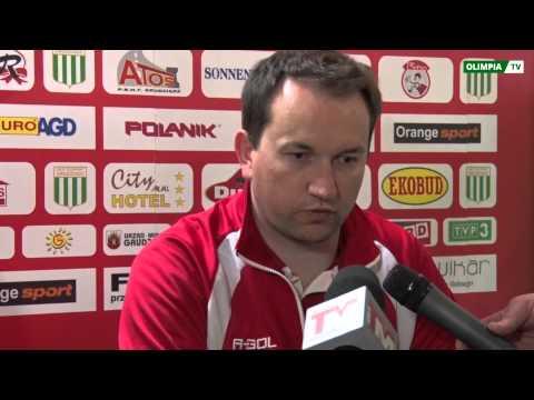 Konferencja prasowa po meczu Olimpia Grudziądz - Stomil Olsztyn