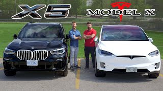 2019 BMW X5 50i vs Tesla Model X // Battle Of The X