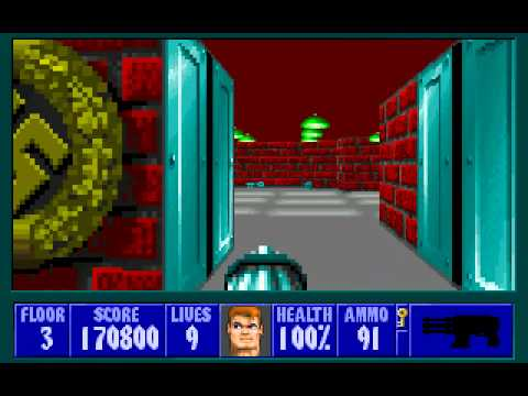 Wolfenstein 3D Full Playthrough (DOS)