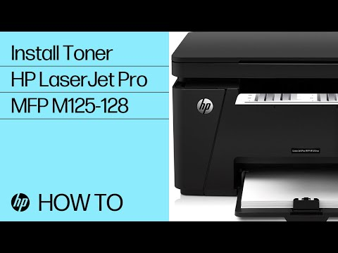 Installing Toner in the HP LaserJet Pro MFP M125-128 Printer Series