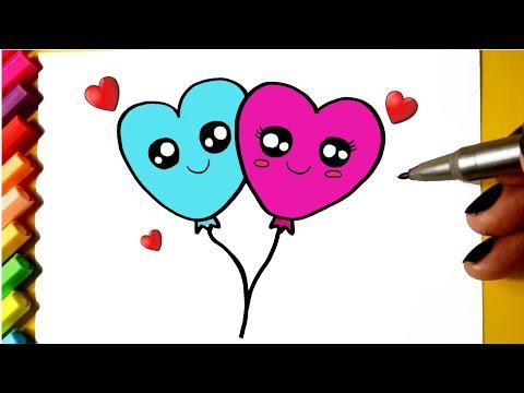 Balões Corações