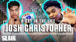 Josh Christopher HILARIOUS Mic'd Up at the Instagram HQ | SLAM Day in the Life