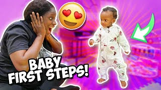 MELLY WALKS FOR THE FIRST TIME!