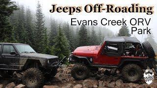 Jeep Wrangler TJ & Cherokee XJ Off-Roading- Evans Creek ORV Park