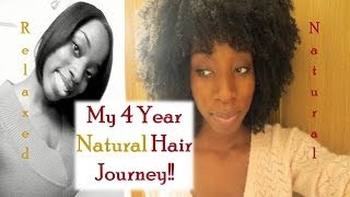 My 4 Year Natural Hair Journey!!