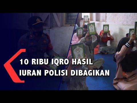 ribu iqro hasil iuran polisi dibagikan