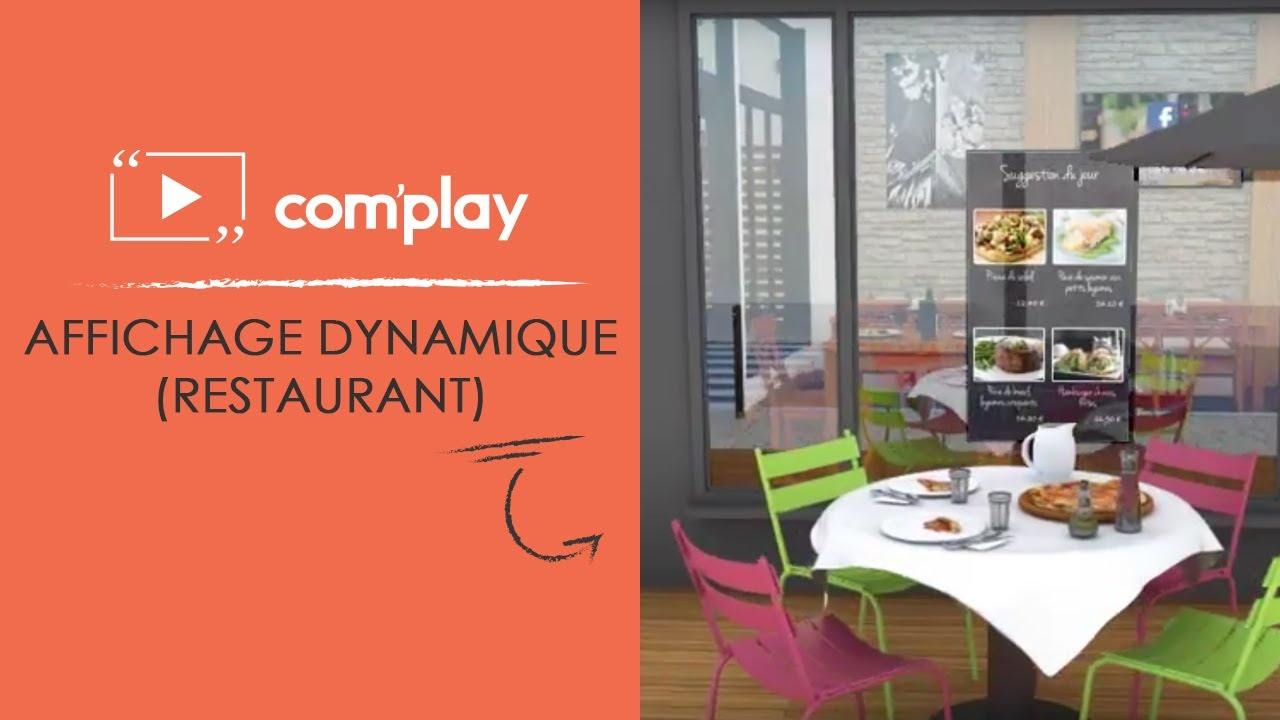 Image YouTube Communiquez dans votre restaurant grâce à l'affichage dynamique