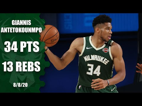 Giannis Antetokounmpo posts a double-double for Bucks vs. Mavericks | 2019-20 NBA Highlights