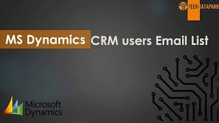 How To Get MS Dynamics CRM Customers Mailing Database