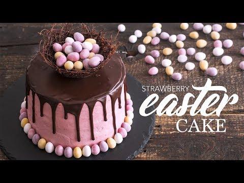 Strawberry Easter Cake
