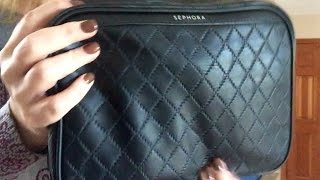 My New Travel Make-up Bag And Whats Inside!  Sephora Weekender