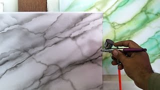 Cara Membuat Motif Marmer Dengan Airbrush !! Marble Painting Airbrush