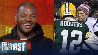 Martellus Bennett on who is the best QB between Aaron Rodgers and Tom Brady | FIRST THINGS FIRST