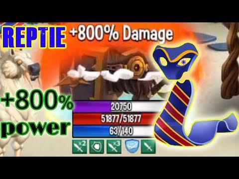 Reptie Rocigon level 130 combat review good buffer monster legends