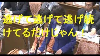 国会山尾志桜里安倍総理に激怒逃げるなと恫喝安倍総理も逃げ腰で笑うわこんなの