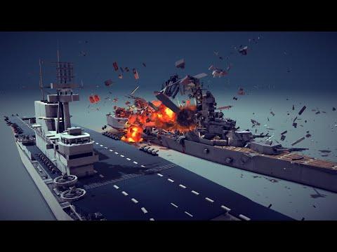 Satisfying Random Destruction #8 Feat. Enterprise Aircraft Carrier   Besiege