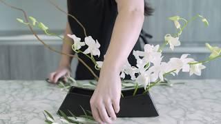 How To Create An Ikebana Flower Arrangement - October Arrangement By Banabox