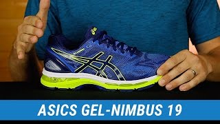 Asics Gel-Nimbus 19 Men's Running Shoes video