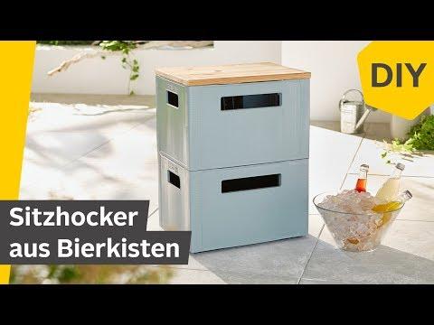 DIY: Sitzhocker/Partyhocker aus Bierkisten selber bauen | Roombeez – powered by OTTO