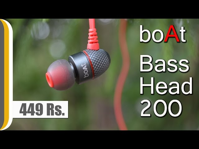 [Hindi] boAt BassHeads 200 In Ear Wired With Mic Earphones Red REVIEW