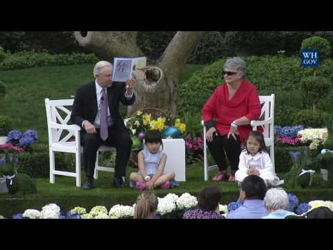 Attorney General Jeff Sessions Reads to Kids at White House Easter Egg Roll Reading Nook