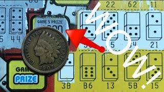HUGE WIN! 1 In 4,000 Chance! DOMINOES California Lottery Scratcher Tickets