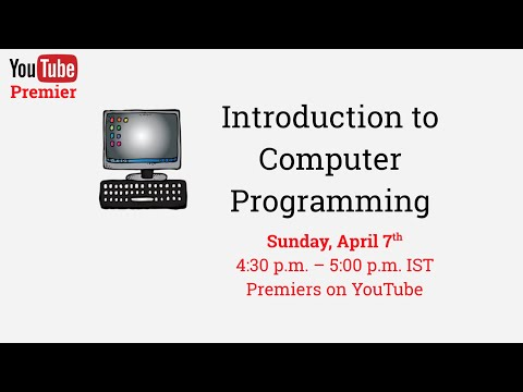 Introduction to Computer Programming - Class 1 - YouTube