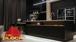 Will And Karlies Incredible Jet Black Kitchen | The Block 2016
