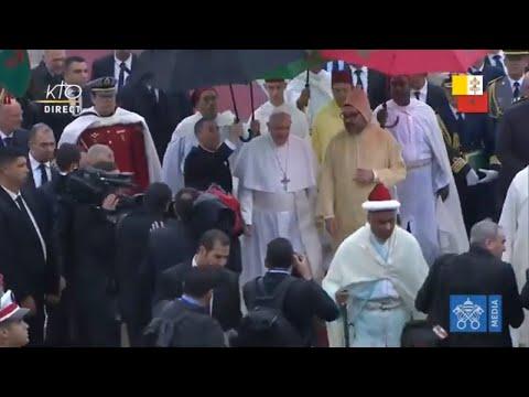 Accueil officiel du pape François au Maroc