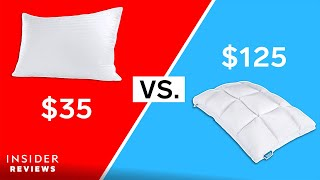 Are Expensive Pillows Worth The Price? $125 Pillow VS. $35 Pillow