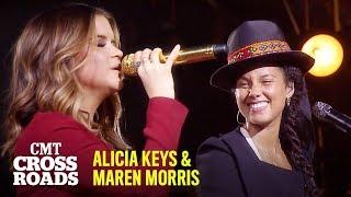 "Video thumbnail of ""Alicia Keys & Maren Morris Perform 'If I Ain't Got You'   CMT Crossroads"""