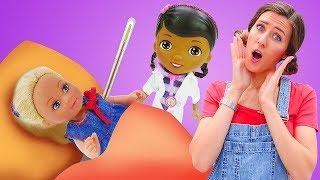 Steffi se pone enferma. Barbie va a la frutería. Vídeos para niñas
