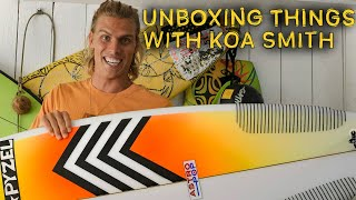 Koa Unboxes Pyzel Surfboards Astro Pop And Onewheels Pint | UNBOXING THINGS WITH KOA SMITH