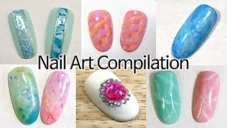 Marble Patch Tile Nail Art Gel Nails Tutorial Most Popular Videos