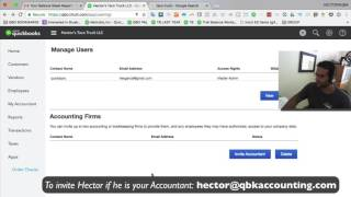 QuickBooks Online Tutorial: Invite your bookkeeper/accountant (Share your books with your CPA)