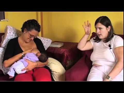 Allattamento di un bimbo dormiglione (la compressione)